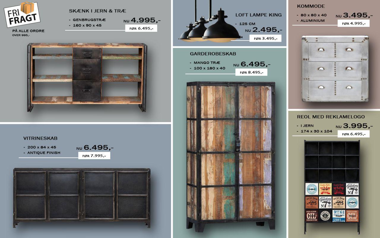 Vintage møbler i et råt design